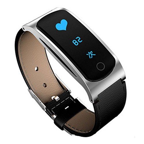Meter Motor (SHENGHUA Cortical Gesundheit Smart Armband Z9 Blutdruck Pulsmesser wasserdicht großen Bildschirm Bluetooth Motor Meter Schritt. (Farbe : Weiß))