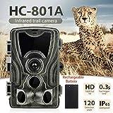 JF Room Wildkamera mit Bewegungsmelder 1080P 16MP 120° Weitwinkel Aufnahmen bei Nachtsichtgeräte wasserdicht Wildtiere aufzunehmen Kamera für die Jagd und Heimtraining Fotofalle (Beutekameras)