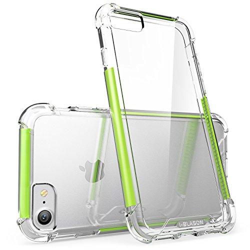 iPhone 7 Hülle, iPhone 8 Hülle, i-Blason Shockproof Schutzhülle Back Cover Transparente Handyhülle Case Schale für Apple iPhone 7 / iPhone 8, Weiß Grün