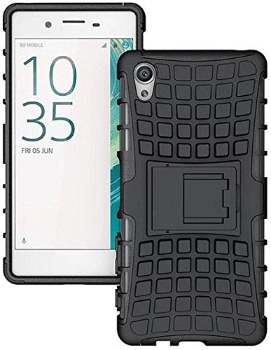HRV Defender Stylish Hard Back Armor Shock Proof Case Cover with Back Stand Feature for Vivo Y51 / Vivo Y51L