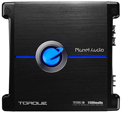 Planet Audio TR1500.1M Drehmoment 1500 Watt, 2 Ohm stabil Klasse A/B, Monoblock, Mosfet Auto-Verstärker mit Fernsteuerung Subwoofer