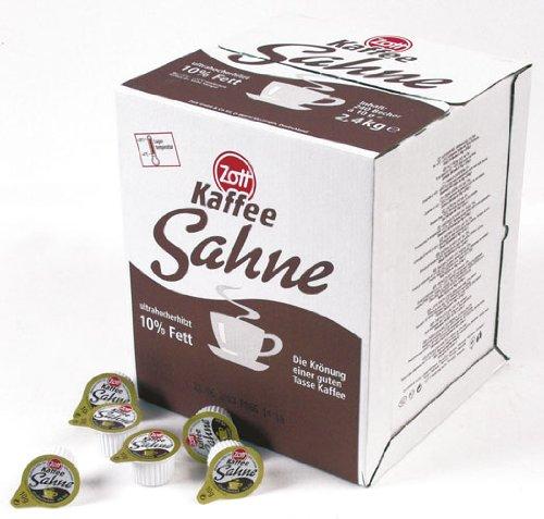Zott Kaffeesahne, Portionspackungen, 10 {d9c678f576e0fa203012ec6c5fd88b56e0c9180d28a68e4b91789537f328439b} Fett, (240 x 10 g Becher) - 240Portionen