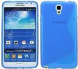 Energmix - Custodia protettiva in silicone per Samsung Galaxy Note 3Neo N7505, guscio in TPU, blu