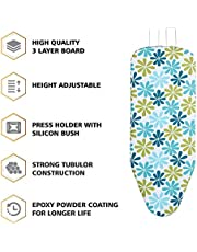 """LEOPAX Heavy Duty Folding Ironing Board Table 18"""" X 48"""" Thick Supreme Double Foam Ironing Board with Cover & Pad,(Color May Vary)"""
