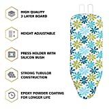 LEOPAX Heavy Duty Folding Ironing Board Table 18' X 48' Thick Supreme Double Foam Ironing Board with Cover & Pad,(Color May Vary)