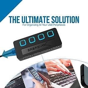 Concentrador de USB 2.0 con 4 salidas - Sabrent HB-UMLS