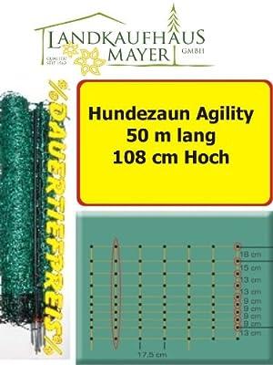 Schafzaun Hundezaun Grün 108cm 50m *AGILITY* für mittlere u. große Hunde.... Maschenweite 17 x 13cm von Landkaufhaus Mayer bei Du und dein Garten