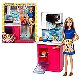 Mattel Single Küche mit Zubehör und Puppe | Barbie BDX54 | Möbel Einrichtung