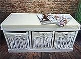 Livitat® Flurbank Truhenbank Garderobenbank 90x35 cm Landaus Shabby Chic Vintage LV4065 Test