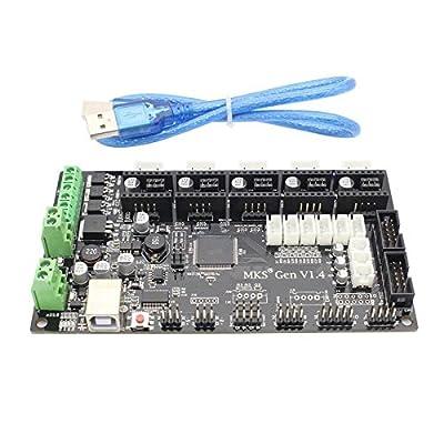 Hrph Neue 3D MKS Gen V1.4 3D Printer Controller Board + 5x DRV8825 Antriebsmodul