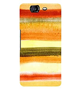 MULTICOLOURED ARTISTIC CLOTH FINISH OVERLAPPING WAVES PATTERN 3D Hard Polycarbonate Designer Back Case Cover for Micromax Canvas Knight A350