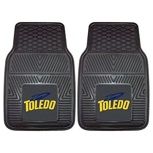 FANMATS NCAA Universität von Toledo Heavy Duty Vinyl Auto Matte (2Stück), klein, schwarz -