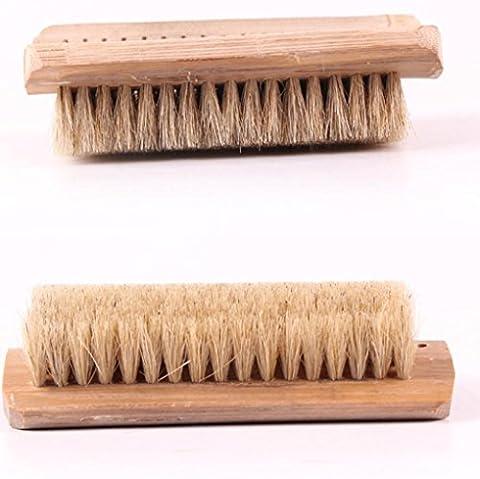 ZYT Schwein-Haarbürste weichen Borsten Haarbürste unten Bambus Schuhbürste