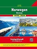 Norwegen, Autoatlas 1:250.000 - 1:400.000, freytag & berndt Autoatlanten