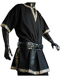Tunika mit kurzem Arm, schwarz, Größen M, L, XL, XXL Mittelalter
