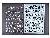Amupper Stencil Guide pour les enfants - Plastique flexible Taille 10.2 par 6.7 pouces (letterring02)