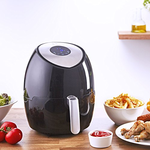 Heska Air Fryer – Oil Free Multicooker – Healthy Fried Food -Oil Free Healthier Alternative to Deep Fat Frying -Touch Screen Control – Dishwasher Safe Parts (2,6L)