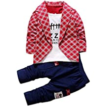 Covermason Niños Falso dos Camisa Tops y Largo Pantalones (1 conjunto)