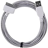 Wayzon Black Strong Nylon Braided Unbrakable High Speed Sync USB Data 30 Pin Cable Lead Charger Suitable For Apple iPhone 2 2G 2GS / 3 3G 3GS / 4 4G / 4S / iPod Touch 2nd 3rd 4th Generation / iPad 1 / 2nd Gen / iPad 3rd Gen