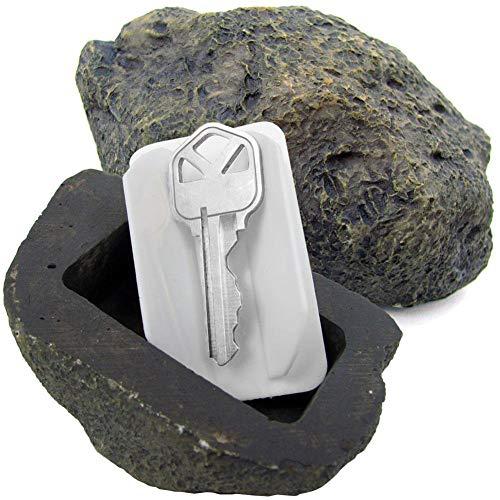 MIAO@LONG Schlüsseltresor Simulierter Stein Schlüssel ausblenden Gefälschter Rock während sicher Verstecken Sie Ihre Ersatzschlüssel Draußen
