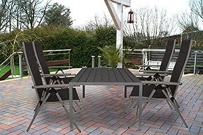 Kynast Aluminium Gartentisch 150 x 90 cm Anthrazit- Silber von KYNAST auf Gartenmöbel von Du und Dein Garten
