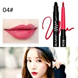 SMILEQ Automatic Lip Liner Matte Lipstick Pen Waterproof And Long Lasting Moisture Makeup Tools (D)