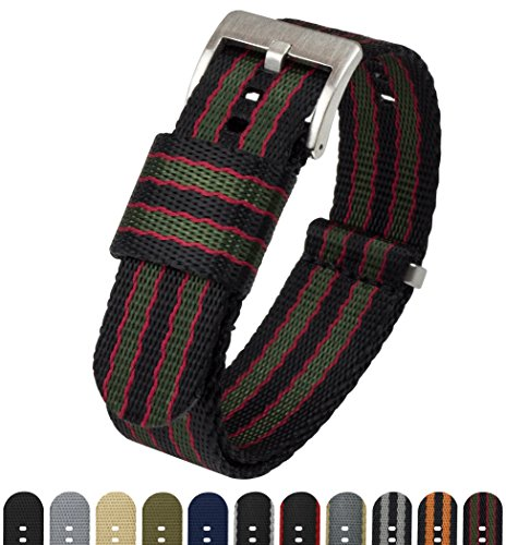 Barton Watch Bands - -Armbanduhr- JNATCLASCBOND22 - Nylon-loop-uhr-band 22mm