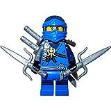 LEGO Ninjago Minifigur Jay mit brauner Rüstung incl. 4 GALAXYARMS Schwertern