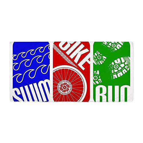sdfgsdhffer Triathlon TRI Swim Bike Run RectanglesLarge Beach Towel, Soft 31