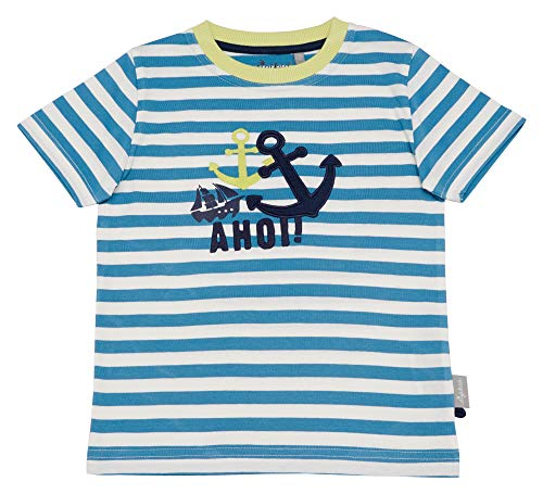 Sigikid Jungen T-Shirt, Mini T-Shirt, per Pack Blau (Niagara 511), 104 (Herstellergröße: 104)
