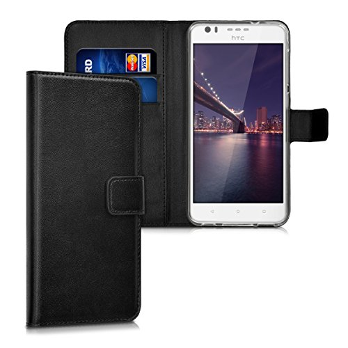 kwmobile HTC Desire 10 Lifestyle Hülle - Kunstleder Wallet Case für HTC Desire 10 Lifestyle mit Kartenfächern und Stand