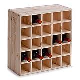 Zeller 13172 Scaffale per vini, legno naturale, 52 x 25 x 52 cm