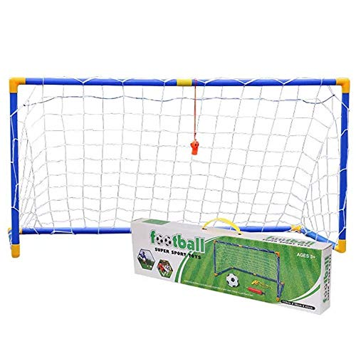 as Kindern gefällt Fußball Fußball Tore Beiträge mit Nets Pegs Ball & Pump Kinder Kinder Junior Spaß Kleine Mini Tragbare Indoor Outdoor Sport Training Praxis ()
