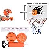 Milkee Innenminibasketballkorb beim Büro Zimmer Mini Basketball Brett Kinder Freizeit Sport mit Ball und Pumpe - 2