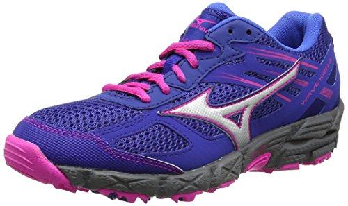 Mizuno Wave Kien 3 (w), Zapatillas de Running para Asfalto para Mujer, Azul (Mazarine Blue/Silver/Electric), 38 EU