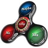 edc Fidget Tri Spinner ruleta por njoy- anti ansiedad mano Spinner juguete con híbrido de cerámica rodamientos perfecto para añadir, TDAH, Autismo, stress relief - sólo 1 Spinner (2 lados) (Black)