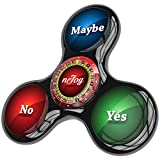 edc zappeln Tri Spinner Roulette von njoy- Anti Angst Hand Spinner Spielzeug mit Hybrid-Keramik Kugellager perfekt für hinzufügen, ADHS, Autismus, Stress Relief–nur 1Spinner (2Seiten) (Black)
