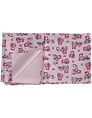 Aarushi Rubber Waterproof Baby Sleeping Sheet Pink- Radom Print