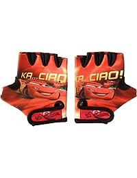 Disney para niños Coche guantes de ciclismo con cierre de velcro de fijación, rojo, S, 802229