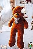 MyTeddyWorld Giant Teddy Bear 140-200 cm - Marrone Scuro 140 cm Big Cuddly Soft Velvet Plush Giant Teddy Bear Animals for Kids Fidanzata - Perfect Toy Gift for Compleanno San Valentino Anniversario