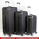 Koffer Trolley Reisekoffer Schwarz Reiseset Hartschale Kofferset in 3 Größen XL-L-M