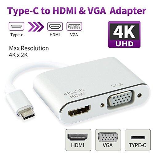 MASOMRUN USB 3.1 Tipo C a HDMI 4 K, USB 3.0 Tipo C HDMI Adattatore AV Digitale per Apple MacBook, Chromebook, Pixel dell USB-C dispositivi a HDTV/proiettore Type c hdmi vga Type c hdmi vga