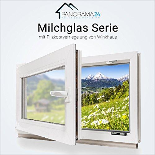 Kellerfenster - Kunststoff - Fenster - weiß - Milchglas - 2-fach-Verglasung 90x60 cm - DIN links - 60mm Profil - verschiedene Maße - schneller Versand