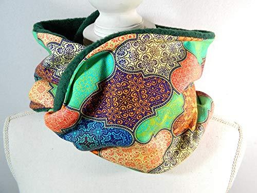 Loop-Schal Orient Kacheln Indien Rundschal Halstuch Tücher Halssocke