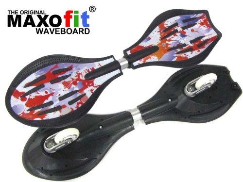 MAXOfit Waveboard Pro Close Mini Fire, bis 129 Kg mit Leuchtrollen und Tasche, 15003