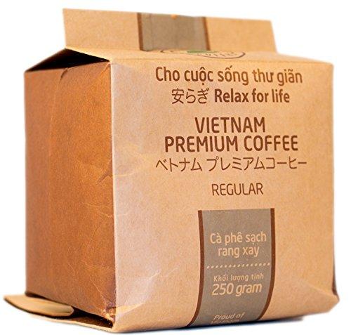 VietBeans – Hello5 Regular Gemahlener Röstkaffee 250g – Kräftiger Vietnamesischer Kaffee mit Schokoladigem Aroma – Hoher Koffeingehalt– Kaffee - Dunkle Kaffee-bohnen Bio Röstung