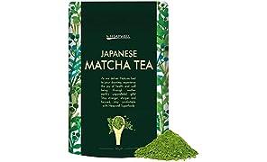 Matcha Tè verde giapponese 50 g | Grado culinario | Perfetto per tè, frullati, dessert, frullati, torte e pasticcini | Adatto per un vegano | Pieno di antiossidanti e migliore per la disintossicazione