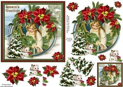 Poinsettia Puppy Sweet Angel di Karen Wyeth