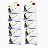 #2: Turron Set of 10 Blank Bound White Index Flash Cards small(10cm x 6cm, 54 cards per set, 160 gsm) suitable for Exam Preparation, Cheat Sheets, Short Notes, Syllabus Revision
