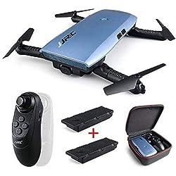 REDPAWZ Pliable Mini Drone, H47 Elfie Plus WiFi FPV Camera Drone,Selfie Elfie Drone avec G-capteur Contrôle, Mode sans Tête RTF Télécommande Quadcopter pour Enfants,Débutants, Adultes-2 Batterie